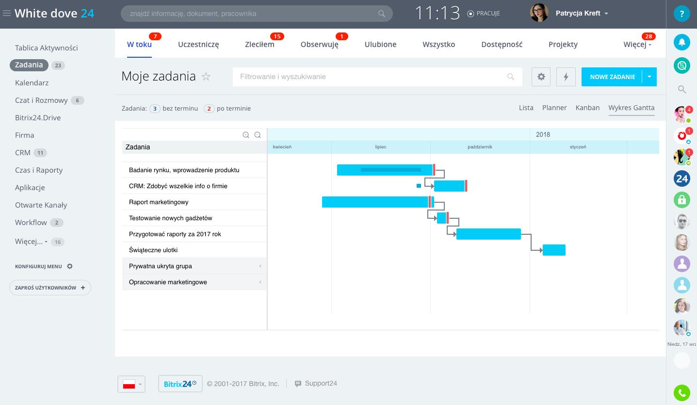 Bitrix24 darmowe zadanie i zarzdzanie projektami dla zespow przesunicie terminu dodanie podzadania i wprowadzenie innych zmian mona szybko wykona wraz z automatycznymi powiadomieniami dla wszystkich uczestnikw ccuart Image collections
