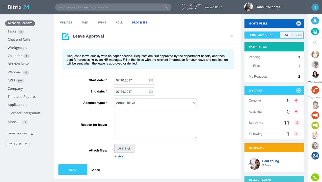 Bitrix24 to rozwizanie nr 1 wrd darmowych platform do prowadzenia automatyzacja workflow indywidualne workflow wnioski urlopowe delegacje wydatki zakupy zapytania oglne ccuart Images